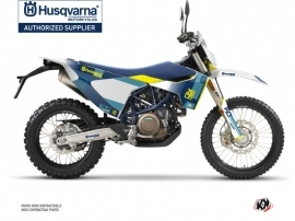 Husqvarna 701 Enduro Dirt Bike Hero Graphic Kit Blue Yellow