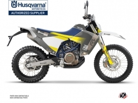 Husqvarna 701 Enduro LR Dirt Bike Hero Graphic Kit Grey Yellow
