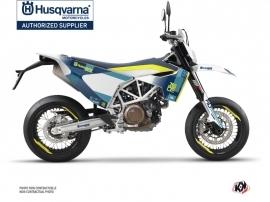 Husqvarna 701 Supermoto Dirt Bike Hero Graphic Kit Blue Yellow