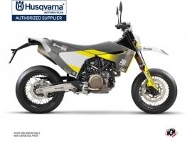 Kit Déco Moto Cross Hero Husqvarna 701 Supermoto Gris Jaune
