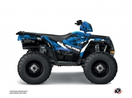 Polaris 450 Sportsman ATV Hidden Graphic Kit Blue White