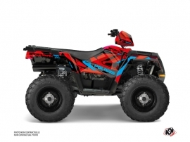 Polaris 570 Sportsman Forest ATV Hidden Graphic Kit Red Blue