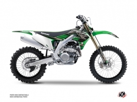 Kawasaki 450 KXF Dirt Bike Impact Graphic Kit Green