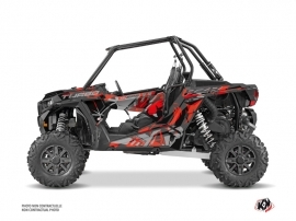 Polaris RZR 1000 Turbo UTV Jaw Graphic Kit Red