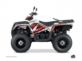 Polaris 450 Sportsman ATV Jungle Graphic Kit Red