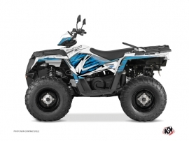 Polaris 570 Sportsman Touring ATV Jungle Graphic Kit Blue