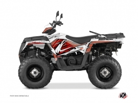 Polaris 570 Sportsman Touring ATV Jungle Graphic Kit Red