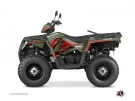 Polaris 570 Sportsman Touring ATV Jungle Graphic Kit Green Red
