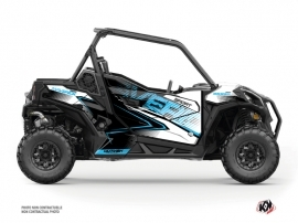 Can Am Maverick Sport With Doors UTV Kallin Graphic Kit White Blue