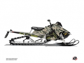 Polaris Axys Snowmobile Kamo Graphic Kit Green Yellow