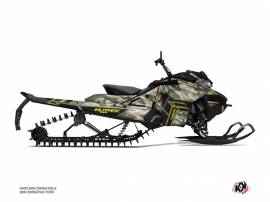 Skidoo Gen 4 Snowmobile Kamo Graphic Kit Green Yellow