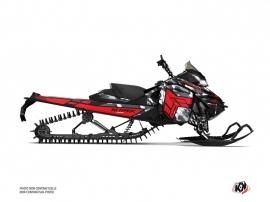 Skidoo REV XM Snowmobile Kamo Graphic Kit Grey Red