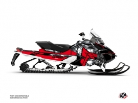 Skidoo REV XP Snowmobile Kamo Graphic Kit Grey Red