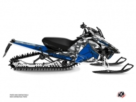Kit Déco Motoneige Kamo Yamaha SR Viper Gris Bleu