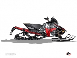 Arctic Cat Thundercat Snowmobile Kamo Graphic Kit Grey Red
