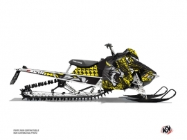 Polaris Axys Snowmobile Keen Graphic Kit Grey Yellow