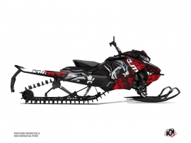 Skidoo Gen 4 Snowmobile Keen Graphic Kit Griey Red