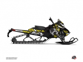 Skidoo REV XM Snowmobile Keen Graphic Kit Grey Yellow
