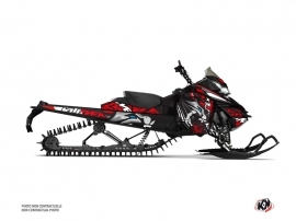 Skidoo REV XM Snowmobile Keen Graphic Kit Grey Red