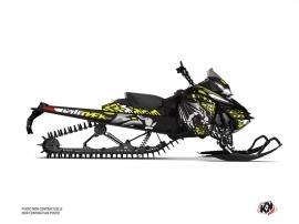 Skidoo REV XM Snowmobile Keen Graphic Kit Neon Grey