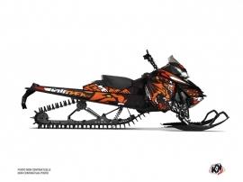 Skidoo REV XM Snowmobile Keen Graphic Kit Orange