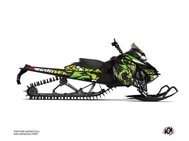 Skidoo REV XM Snowmobile Keen Graphic Kit Green