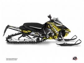 Kit Déco Motoneige Keen Yamaha Sidewinder Gris Jaune