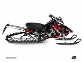 Yamaha SR Viper Snowmobile Keen Graphic Kit Grey Red