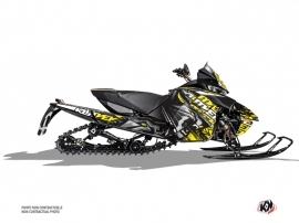 Arctic Cat Thundercat Snowmobile Keen Graphic Kit Grey Yellow