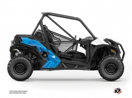 Can Am Maverick Trail UTV Kinetik Graphic Kit White Blue