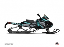 Skidoo REV XM Snowmobile Klimb Graphic Kit Cyan