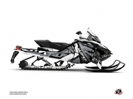 Skidoo REV XP Snowmobile Klimb Graphic Kit White