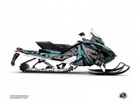 Skidoo REV XP Snowmobile Klimb Graphic Kit Cyan