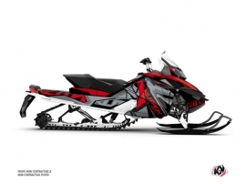 Skidoo REV XP Snowmobile Klimb Graphic Kit Red