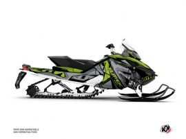 Skidoo REV XP Snowmobile Klimb Graphic Kit Green