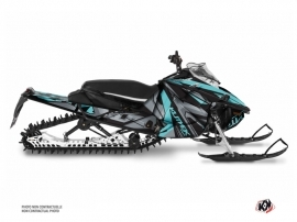 Kit Déco Motoneige Klimb Yamaha Sidewinder Cyan