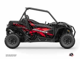 Can Am Maverick Sport With Doors UTV Kollector Graphic Kit Black red