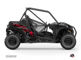 Can Am Maverick Sport UTV Kollector Graphic Kit Black Red