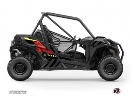 Can Am Maverick Sport UTV Konkeror Graphic Kit Red Yellow