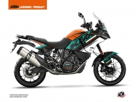 Kit Déco Moto Kontrol KTM 1190 Adventure Orange Blanc