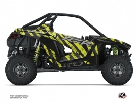 Polaris RZR PRO XP UTV Krack Graphic Kit Black Neon Green