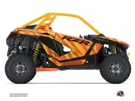 Polaris RZR PRO XP UTV Krack Graphic Kit Orange