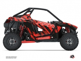 Polaris RZR PRO XP UTV Krack Graphic Kit Red