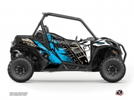 Can Am Maverick Sport With Doors UTV Kraft Graphic Kit White Blue