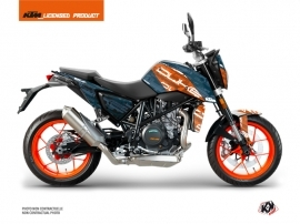Kit Déco Moto Krav KTM Duke 690 R Orange Bleu