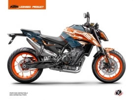 Kit Déco Moto Krav KTM Duke 790 Orange Bleu