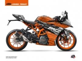 KTM 125 RC Street Bike Krav Graphic Kit Black Orange