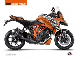 KTM Super Duke 1290 GT Street Bike Krav Graphic Kit Black Orange
