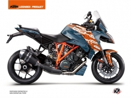 KTM Super Duke 1290 GT Street Bike Krav Graphic Kit Orange Blue