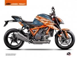 KTM Super Duke 1290 R Street Bike Krav Graphic Kit Orange Blue